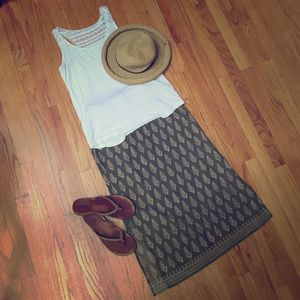 Vintage Abercrombie and Fitch long cotton skirt